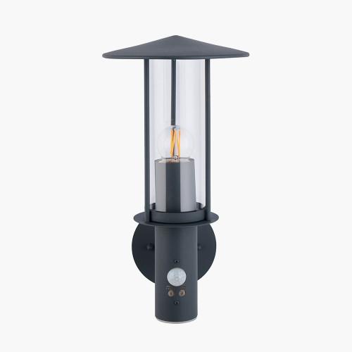 Dark Grey Metal PIR Chimney Wall Light