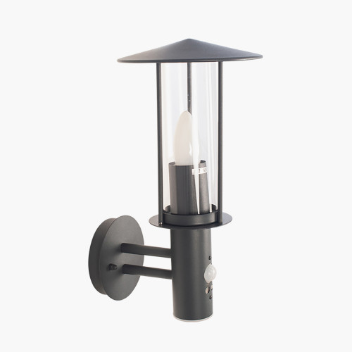 Dark Grey Metal PIR Chimney Wall Light