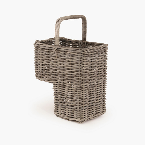 Grey Kubu Stair Basket