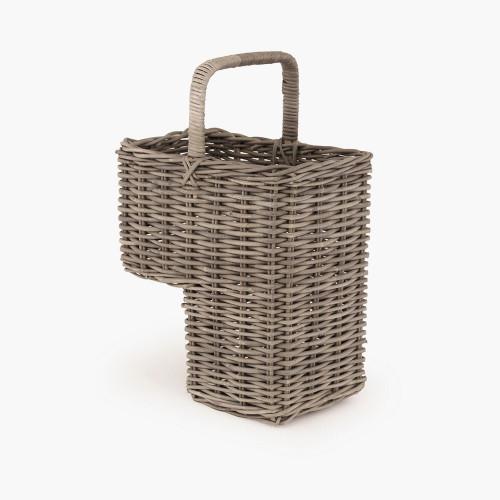 Grey Kubu Stair Basket