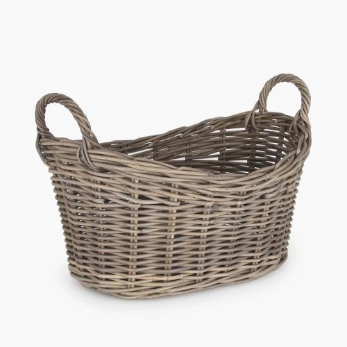 Grey Kubu Oval Laundry Basket