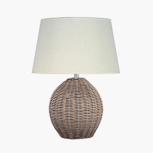 Rattan Cream Wash Table Lamp