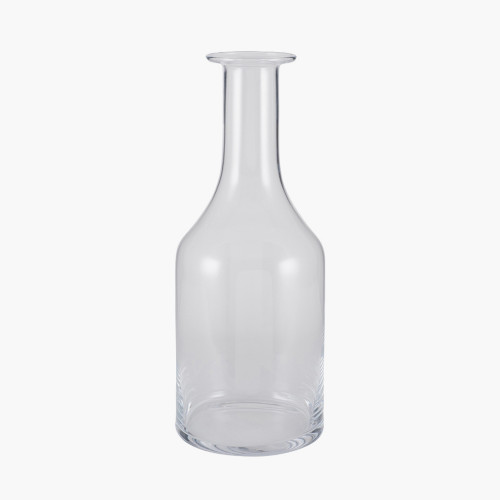 Clear Glass Bottle Vase Small