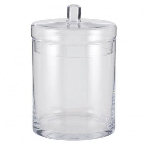 Clear Glass Tucana Lidded Jar Large