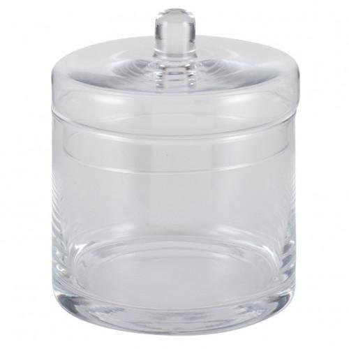 Clear Glass Tucana Lidded Jar Small