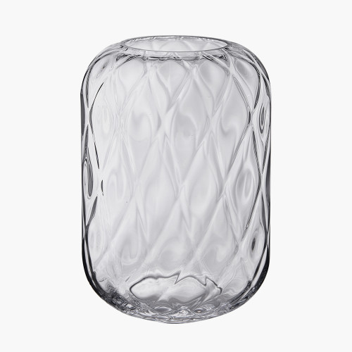 Clear Glass Quadrant Vase Large