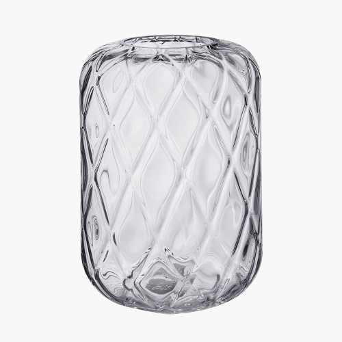 Clear Glass Quadrant Vase Small