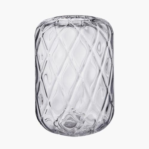 Clear Glass Quadrant Vase Small