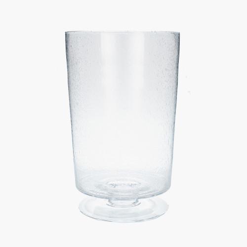 Clear Bubble Glass Leon Vase Large