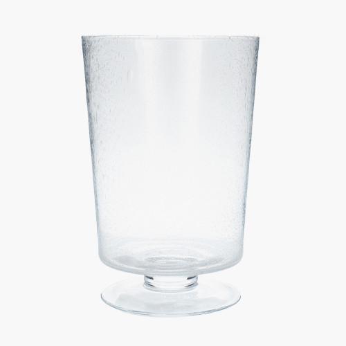 Clear Bubble Glass Leon Vase Small