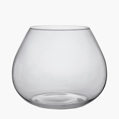 Clear Glass Roza Vase Large