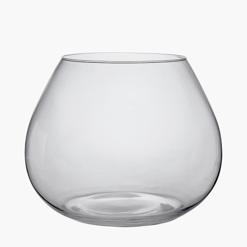 Clear Glass Roza Vase Small
