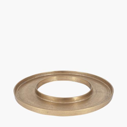 Antique Gold Metal Ring Display Platter