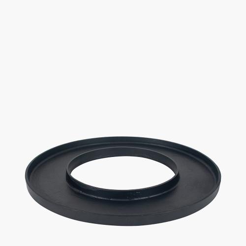 Matt Black Metal Ring Display Platter