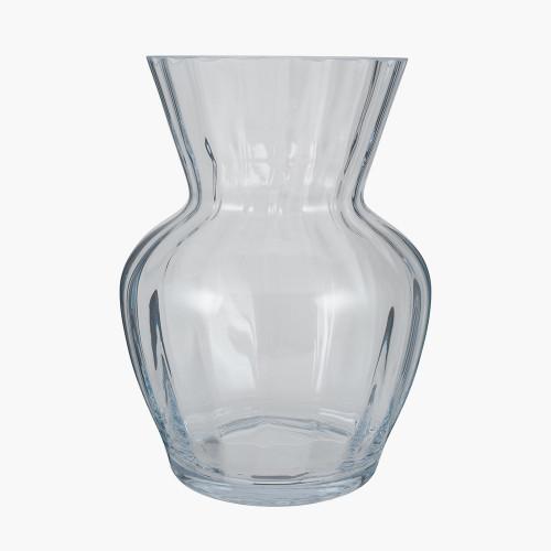 Clear Glass Tara Optic Vase Large