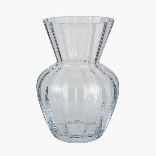 Clear Glass Tara Optic Vase Small