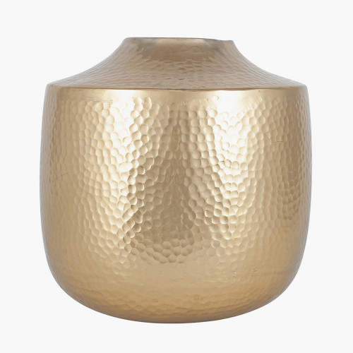 Brass Metal Hammered Large Vase