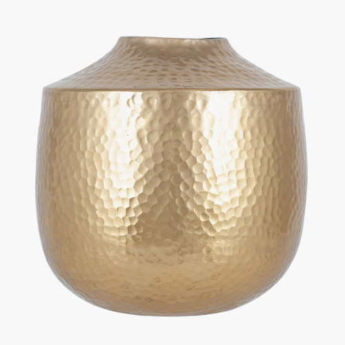 Brass Metal Hammered Small Vase