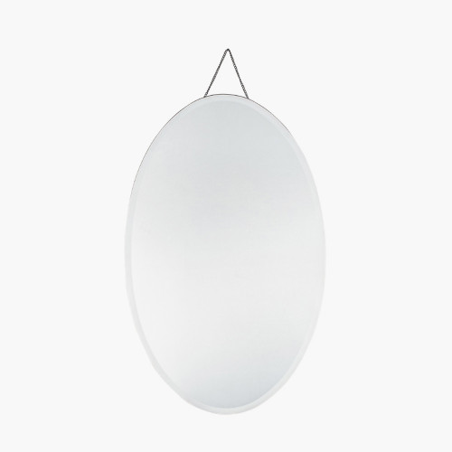 Clear Glass Oval Wall Mirror