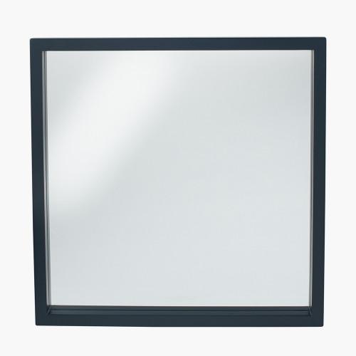Matt Black Wood Veneer Square Mirror