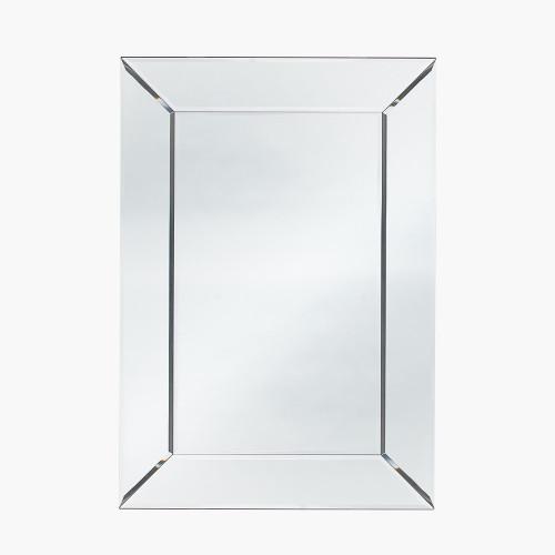 Mirrored Glass Rectangle Wall Mirror