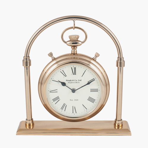 Antique Brass & Glass Carriage Clock