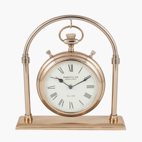 Antique Brass & Glass Carriage Clock