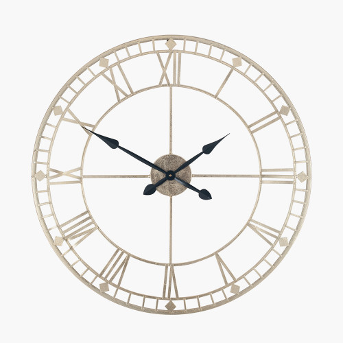 Antique Gold Metal Round Wall Clock