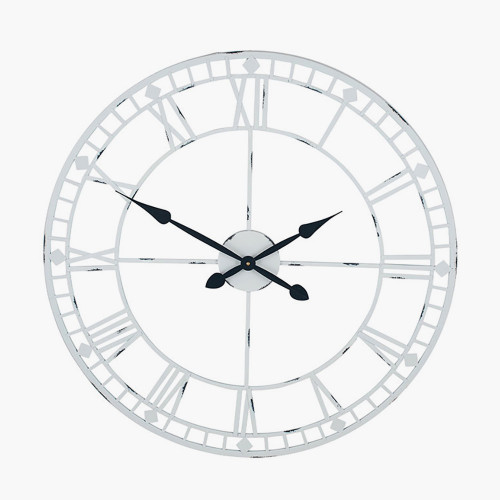 Soft Grey Metal Round Wall Clock