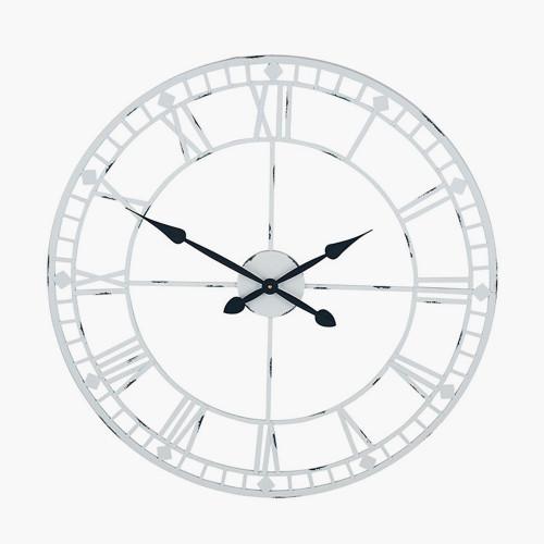Soft Grey Metal Round Wall Clock