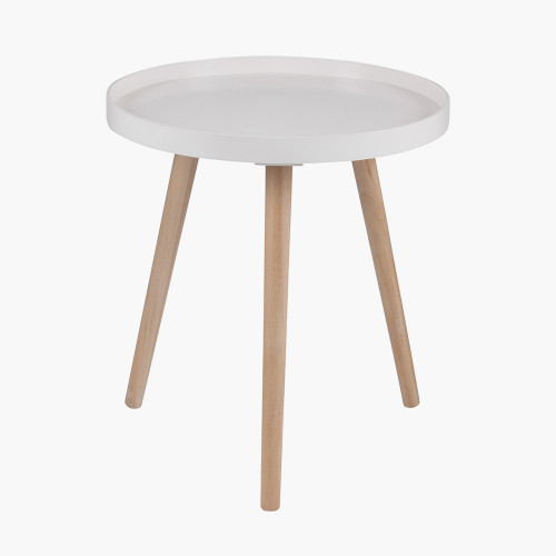 Blush MDF & Natural Pine Wood Round Table K/D