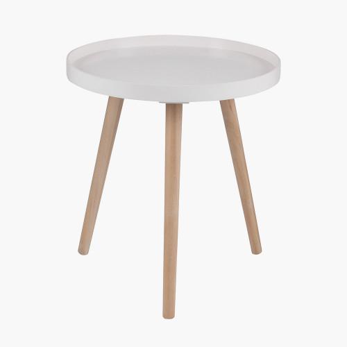 Blush MDF & Natural Pine Wood Round Table K/D