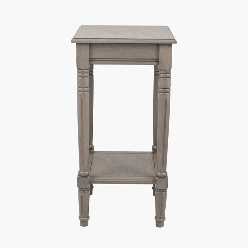 Taupe Pine Wood Square Accent Table K/D