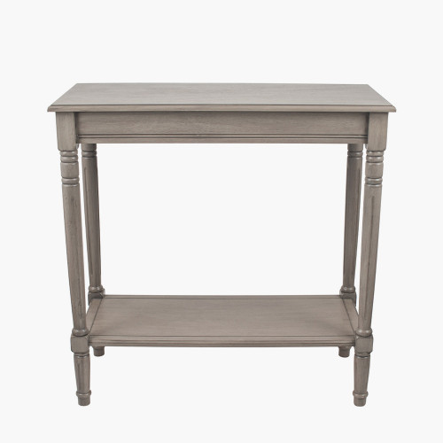 Taupe Pine Wood Rectangle Console K/D