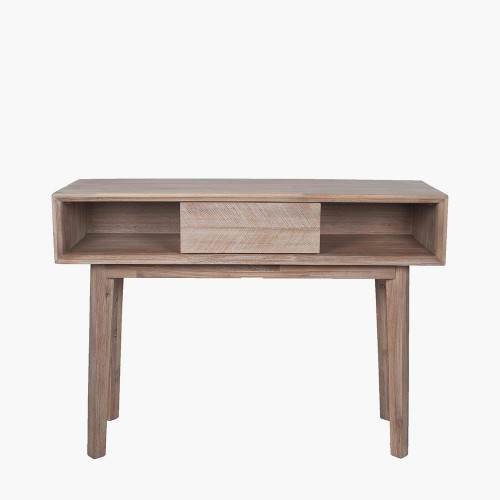 Sand Wash Acacia Wood 1 Drawer Console K/D