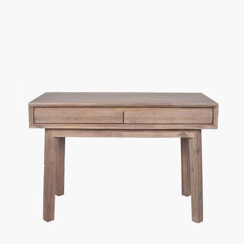 Sand Wash Acacia Wood 2 Drawer Desk K/D