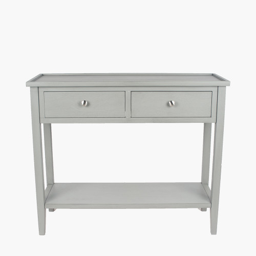 Vendee Grey Pine Wood 2 Drawer Console Table K/D