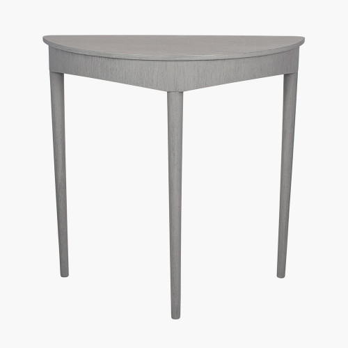 Dark Grey Pine Wood Half Moon Occasional Table