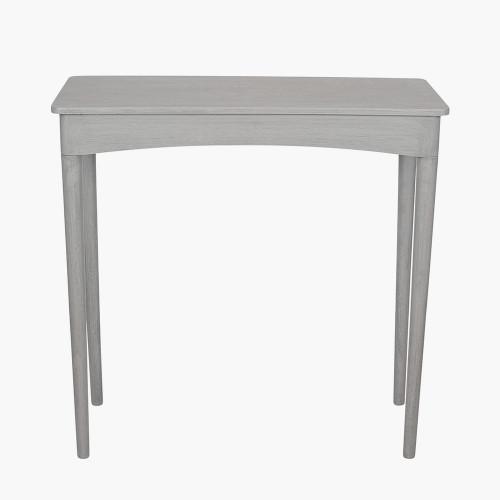 Dark Grey Pine Wood Rectangular Occasional Table