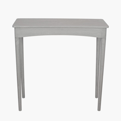 Dark Grey Pine Wood Rectangular Occasional Table