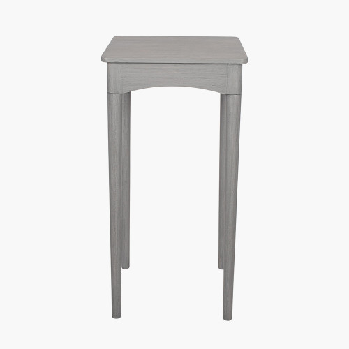 Dark Grey Pine Wood Square Occasional Table