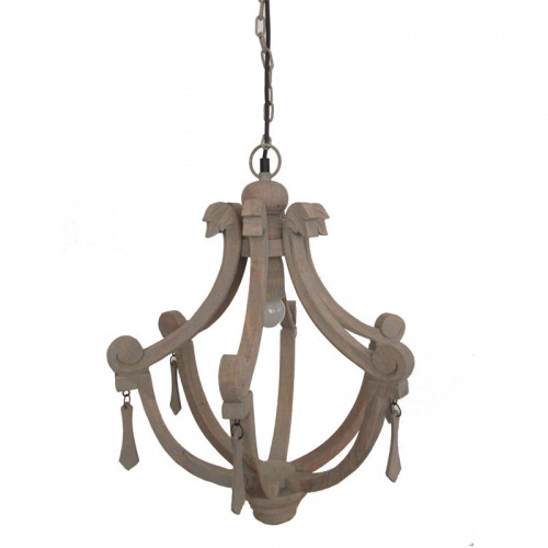 Lana Large Wood Chandelier