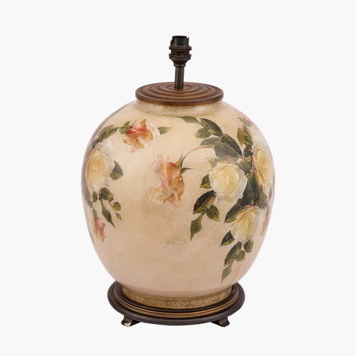Classic Rose Large Glass Table Lamp