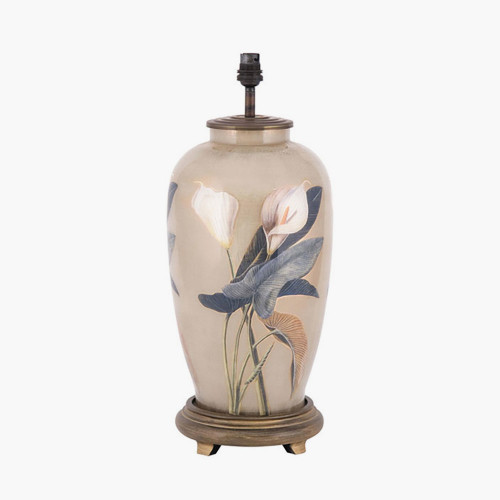 RHS Arum Lily Tall Glass Table Lamp