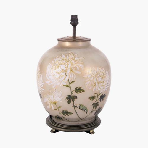 RHS Chrysanthemum Large Glass Table Lamp