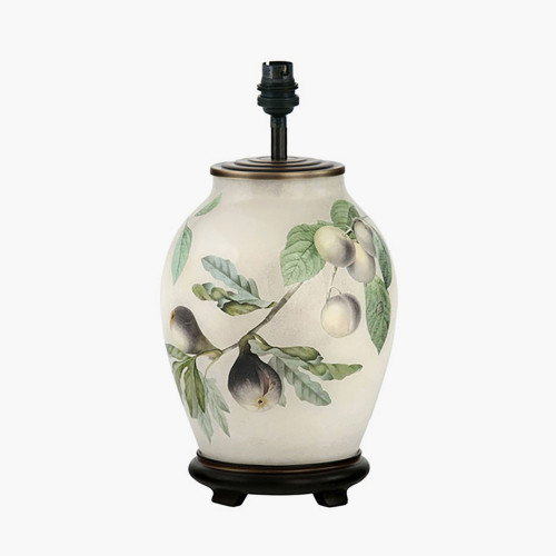 Figs and Plums Medium Glass Table Lamp