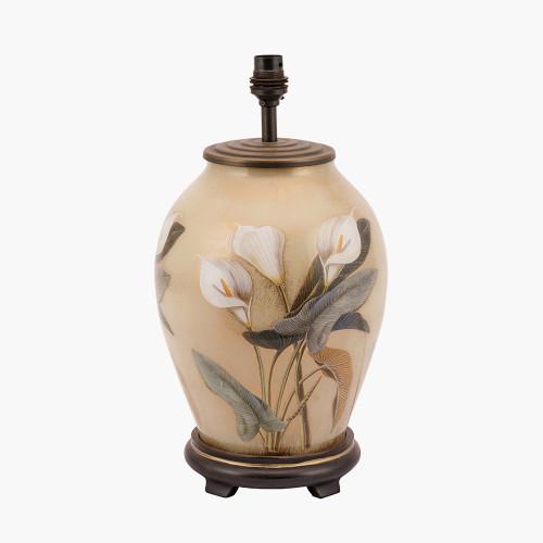 RHS Arum Lilly Medium Glass Table Lamp