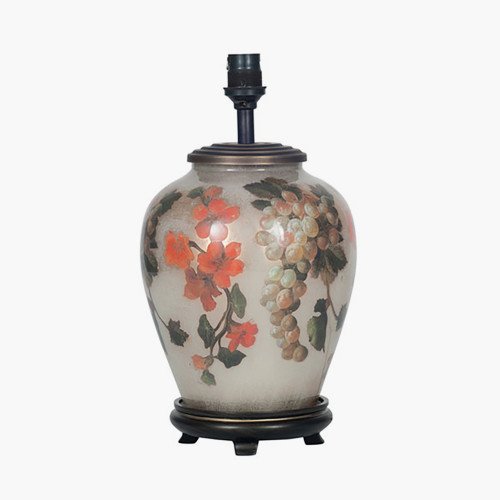 Fruit and Flower Small Glass Table Lamp