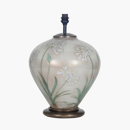 Agapanthus Ginger Jar Glass Table Lamp