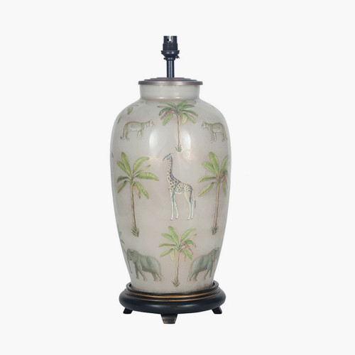 Safari Tall Glass Table Lamp